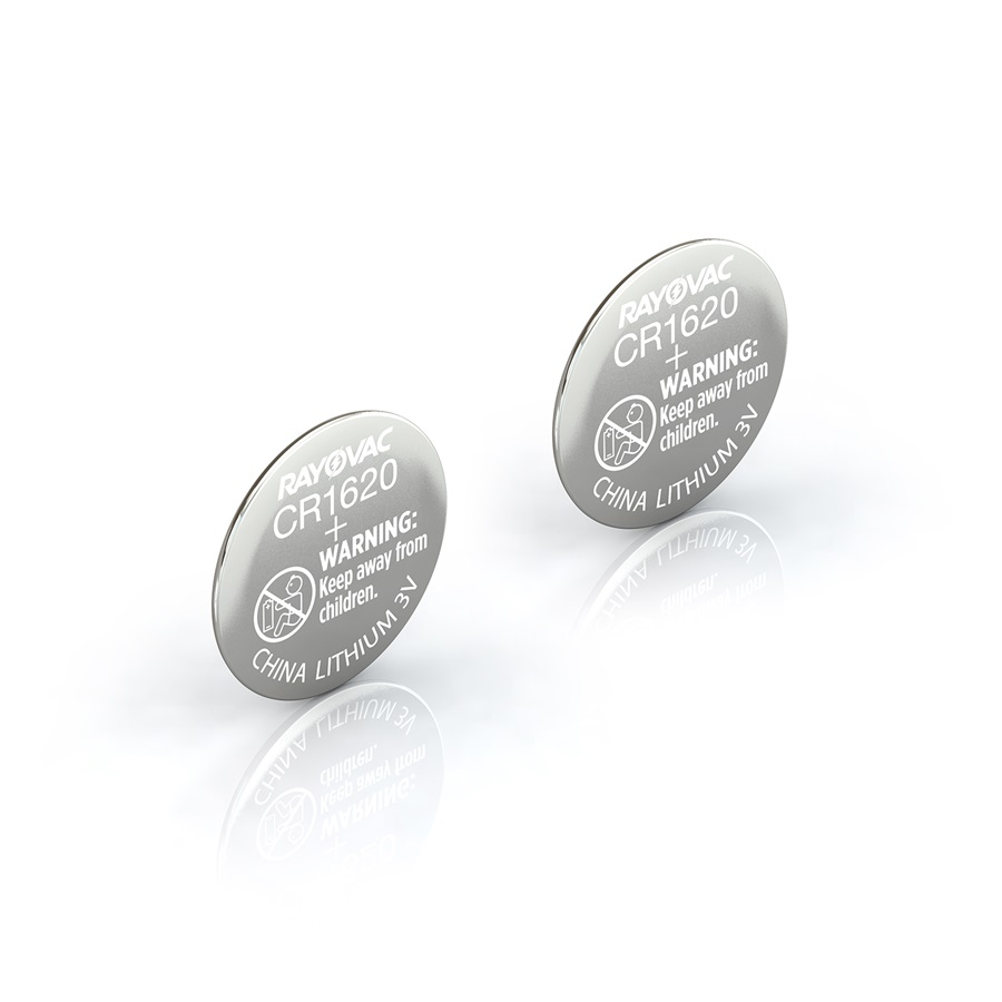 CR1620 Lithium Coin Cell 2-Pack