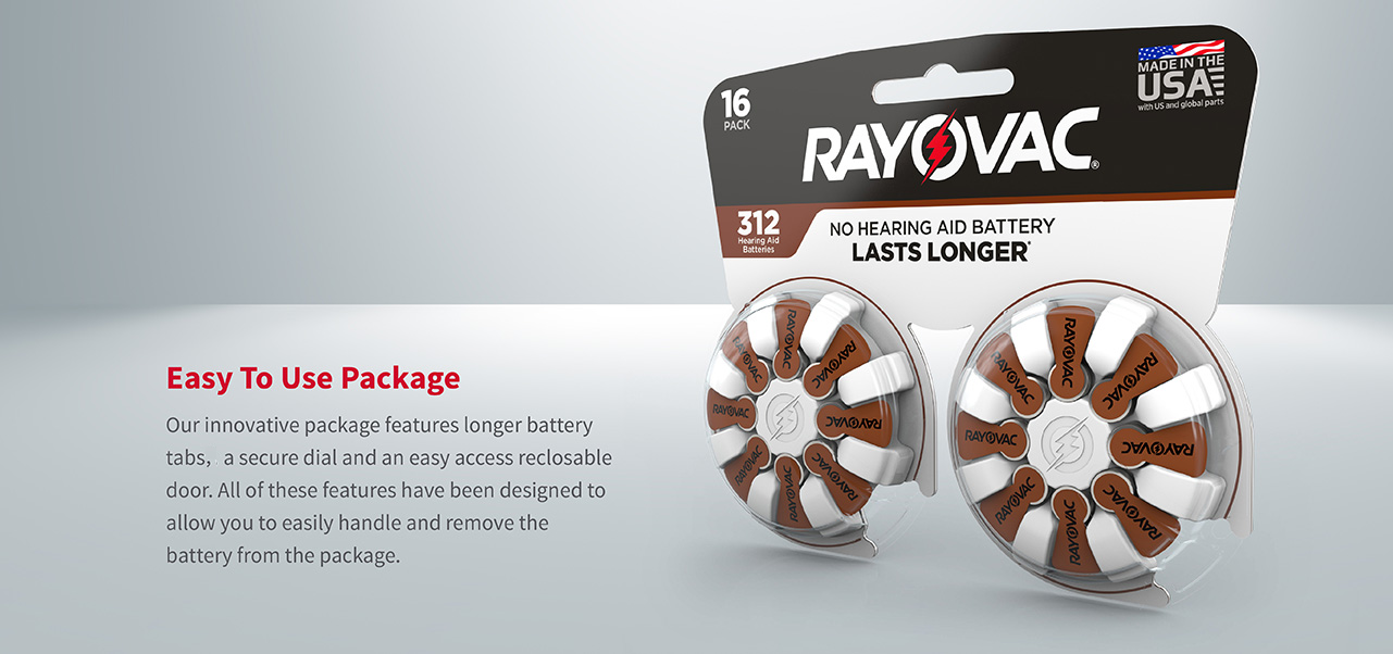 Size 312 Hearing Aid Batteries ease of use banner image