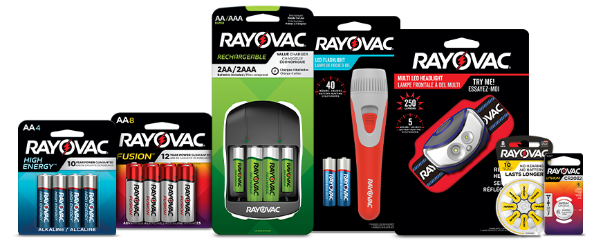 Rayovac Product family banner image